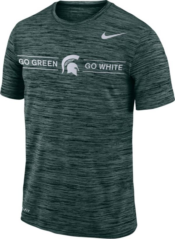 Nike Men's Michigan State Spartans Green Velocity 'Go Green, Go White' Football T-Shirt product image
