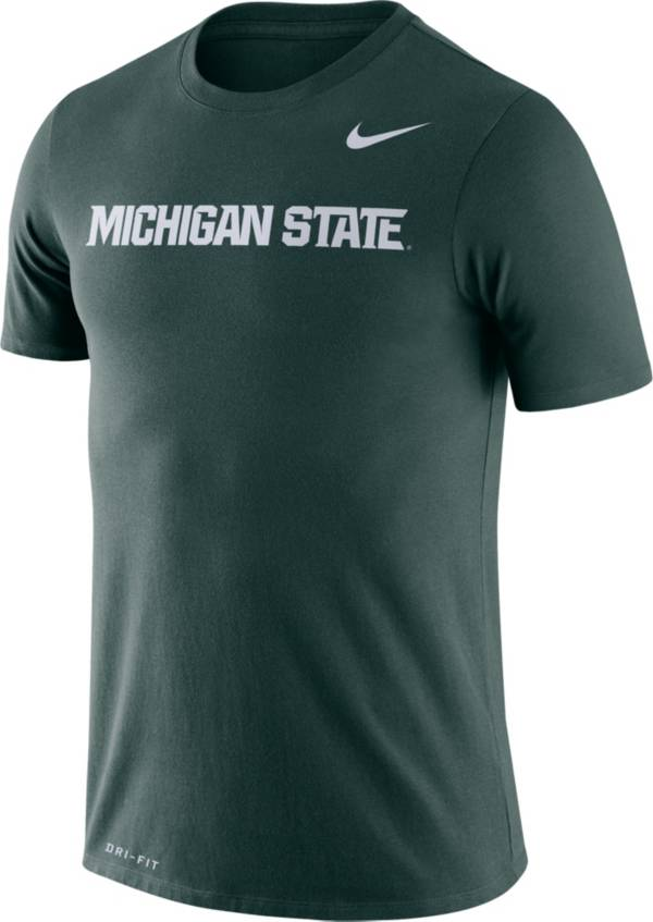 Nike Men's Michigan State Spartans Green Dri-FIT Legend Word T-Shirt product image