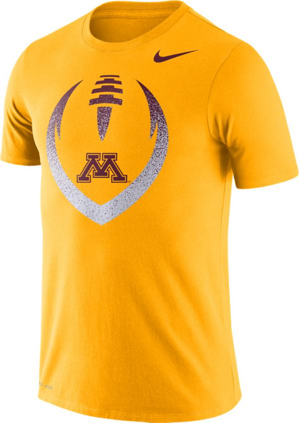 Nike Men's Minnesota Golden Gophers Gold Dri-FIT Cotton Football Icon T-Shirt product image
