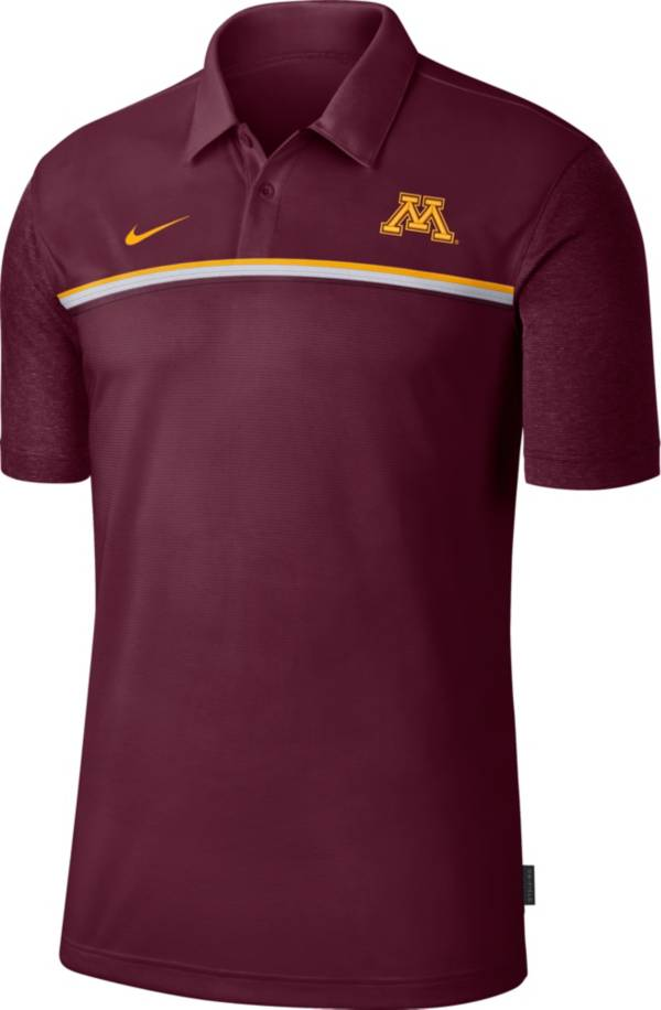 Nike Men's Minnesota Golden Gophers Maroon Dri-FIT Football Sideline Polo product image