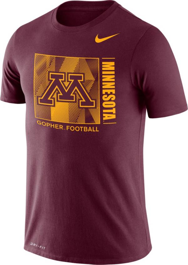 Nike Men's Minnesota Golden Gophers Maroon Team Issue Logo Football T-Shirt product image
