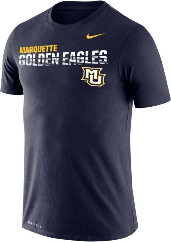 Nike Men's Marquette Golden Eagles Blue Legend Football Sideline T-Shirt product image