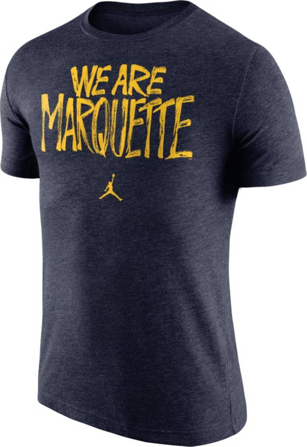 Nike Men's Marquette Golden Eagles Blue 'We Are Marquette' Tri-Blend Verbiage T-Shirt product image