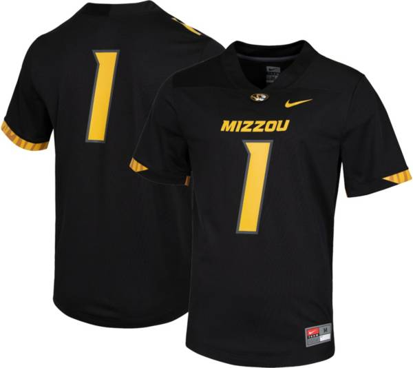 Nike Men's Missouri Tigers #1 Dri-FIT Game Football Black Jersey product image