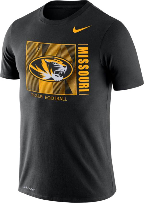 Nike Men's Missouri Tigers Team Issue Logo Football Black T-Shirt product image