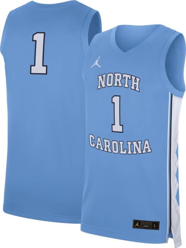 Jordan Men's North Carolina Tar Heels #1 Carolina Blue Replica Basketball Jersey product image