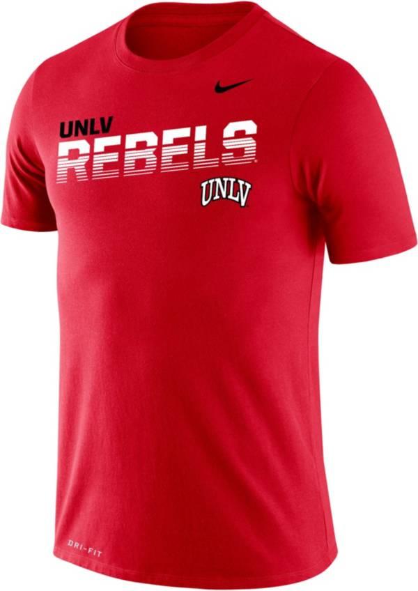 Nike Men's UNLV Rebels Red Legend Football Sideline T-Shirt product image