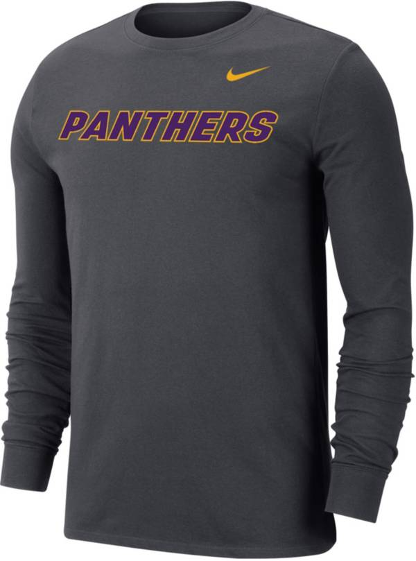 Nike Men's Northern Iowa Panthers  Grey Wordmark Long Sleeve T-Shirt product image