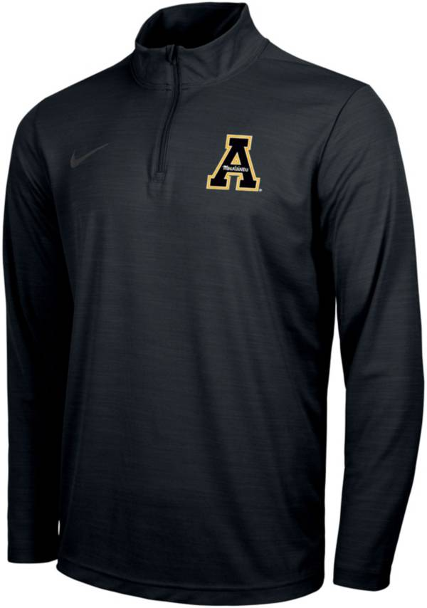 Nike Men's Appalachian State Mountaineers Intensity Black Quarter-Zip Pullover Shirt product image