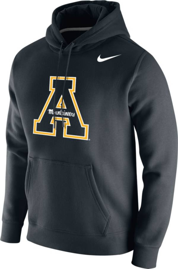 Nike Men's Appalachian State Mountaineers Club Fleece Pullover Black Hoodie product image