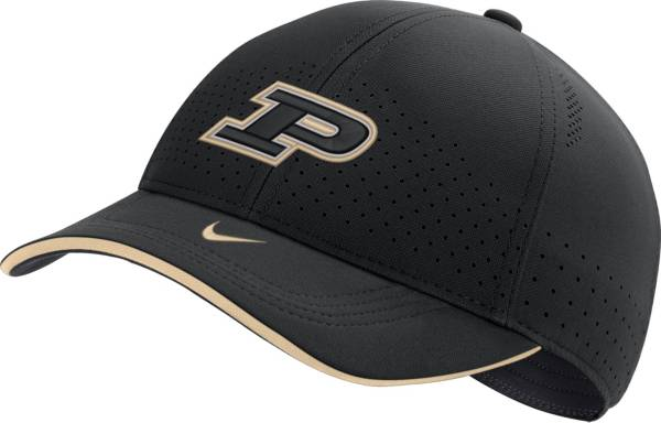 Nike Men's Purdue Boilermakers AeroBill Classic99 Football Sideline Black Hat product image