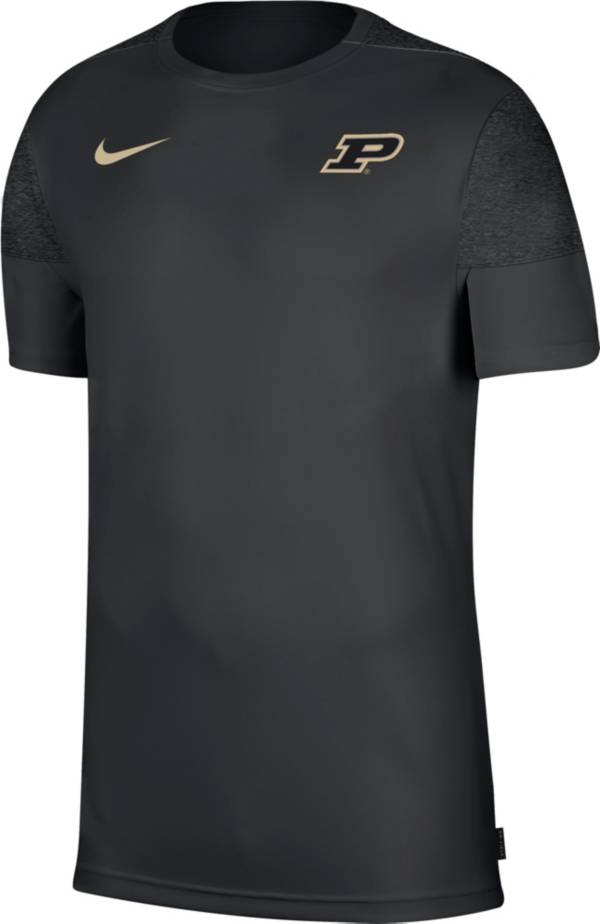 Nike Men's Purdue Boilermakers Top Coach UV Black T-Shirt product image