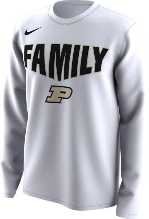 c0f514653 Nike Men's Purdue Boilermakers 'Family' Bench Long Sleeve White T ...