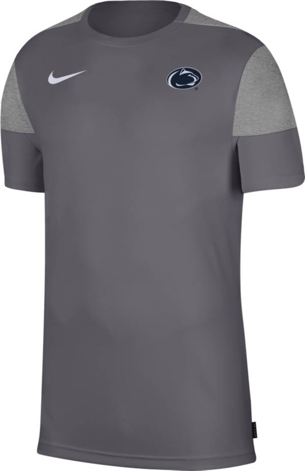 Nike Men's Penn State Nittany Lions Grey Top Coach UV T-Shirt product image