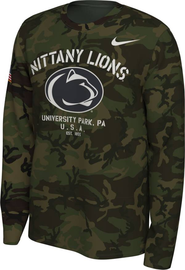 Nike Men's Penn State Nittany Lions Camo Veteran Long Sleeve T-Shirt product image