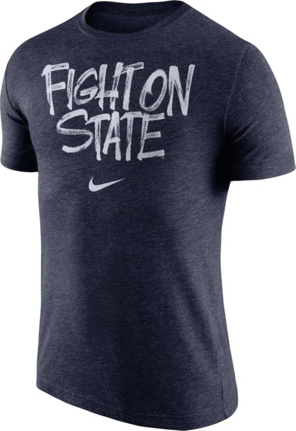 Nike Men's Penn State Nittany Lions Blue 'Fight On State' Tri-Blend Verbiage T-Shirt product image