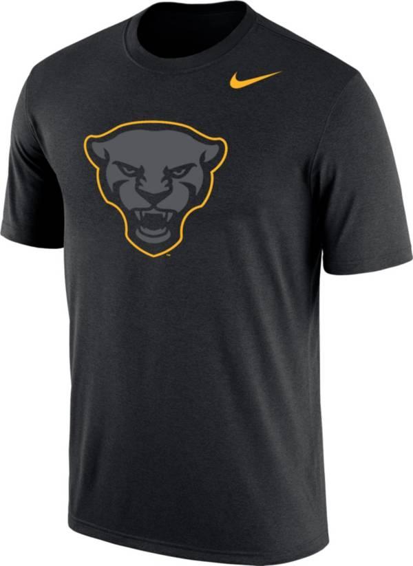 Nike Men's Pitt Panthers Panther Head Logo Dri-FIT Cotton Black T-Shirt product image