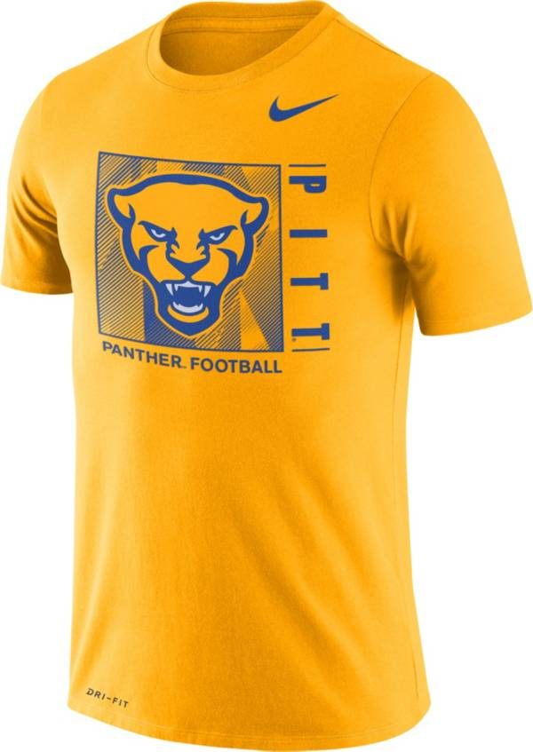 Nike Men's Pitt Panthers Gold Team Issue Logo Football T-Shirt product image