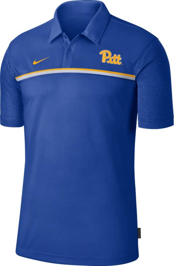 Nike Men's Pitt Panthers Blue Dri-FIT Football Sideline Polo product image