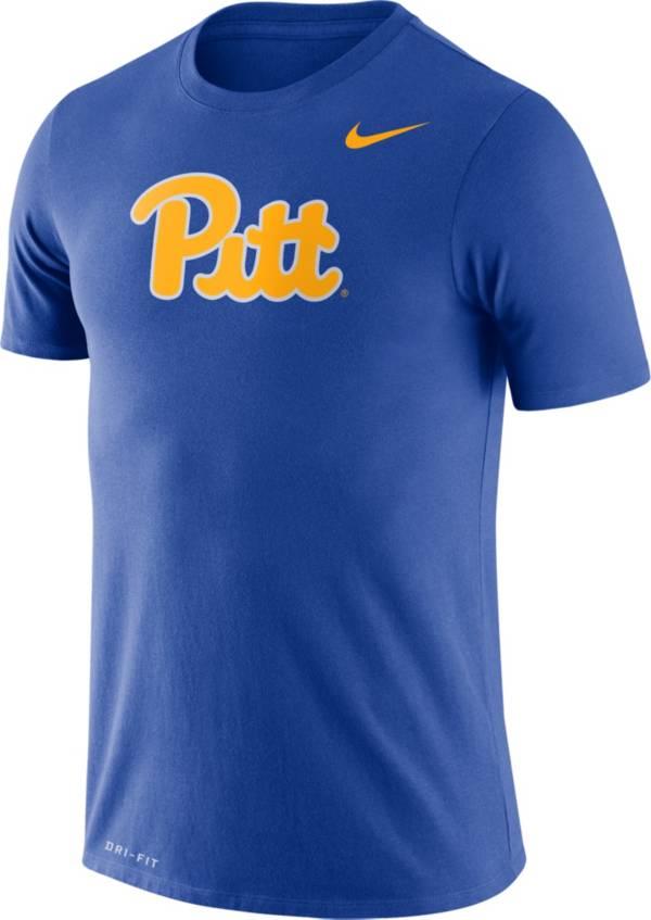 Nike Men's Pitt Panthers Blue Dri-FIT Legend Word T-Shirt product image