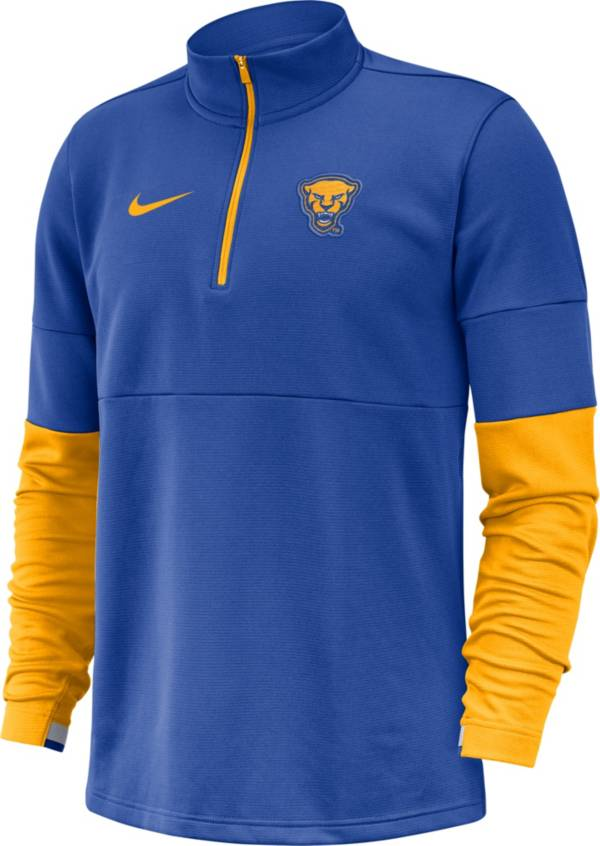 Nike Men's Pitt Panthers Blue Football Sideline Half-Zip Pullover Shirt product image