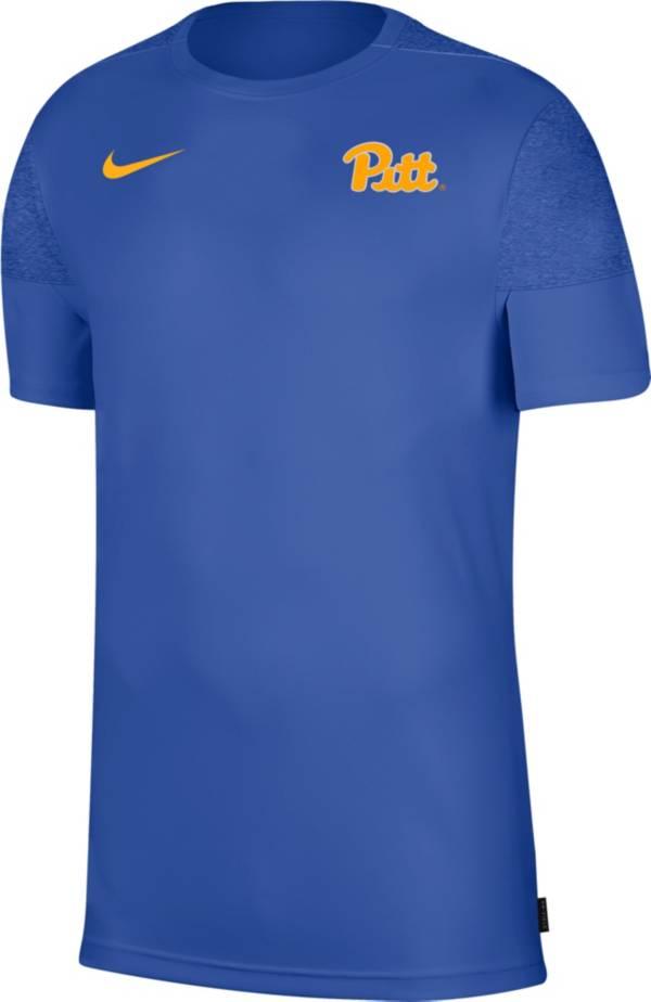 Nike Men's Pitt Panthers Blue Top Coach UV T-Shirt product image