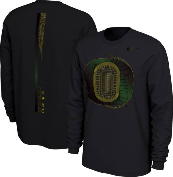 Nike Men's Oregon Ducks Football 20th Anniversary of the 'O' Black Long Sleeve T-Shirt product image