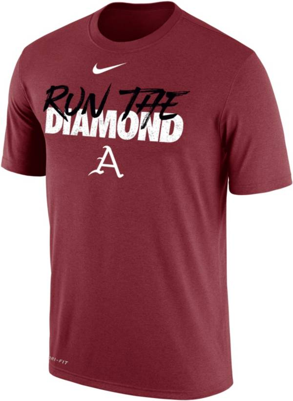Nike Men's Arkansas Razorbacks Cardinal 2019 Men's College World Series Energy T-Shirt product image