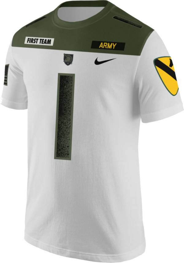 Nike Men's Army West Point Black Knights #1 Rivalry Jersey Football White T-Shirt product image