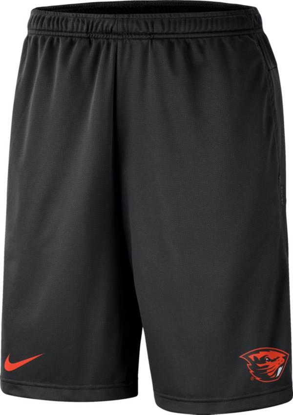 Nike Men's Oregon State Beavers Dri-FIT Coach Black Shorts product image
