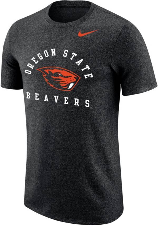 Nike Men's Oregon State Beavers Marled Raglan Black T-Shirt product image