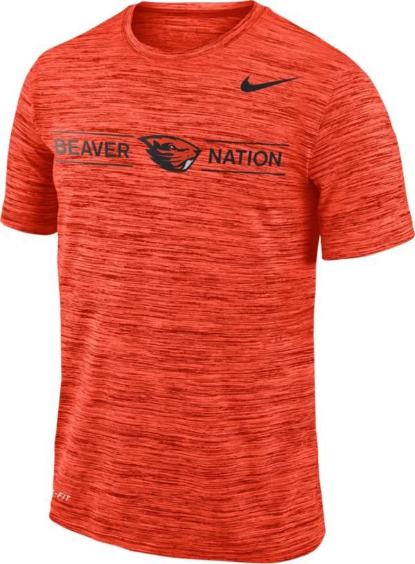 Nike Men's Oregon State Beavers Orange Velocity 'Beaver Nation' Football T-Shirt product image