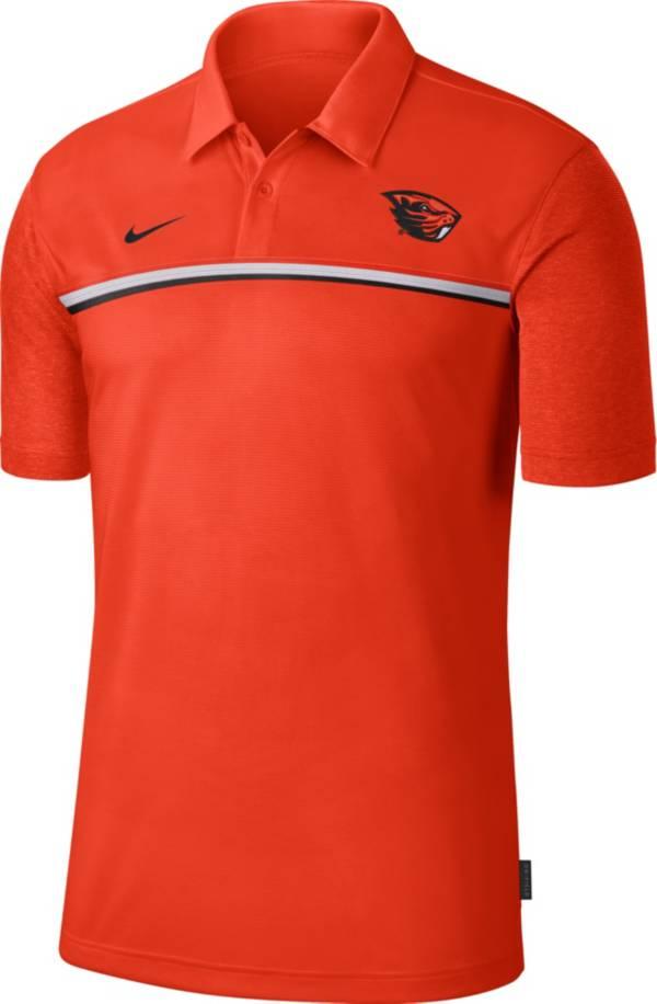 Nike Men's Oregon State Beavers Orange Dri-FIT Football Sideline Polo product image