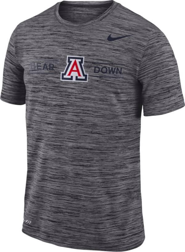 Nike Men's Arizona Wildcats Grey Velocity 'Bear Down' Football T-Shirt product image