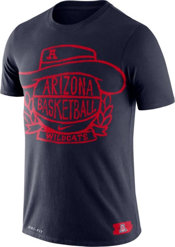 Nike Men's Arizona Wildcats Navy Dry Crest Basketball T-Shirt product image