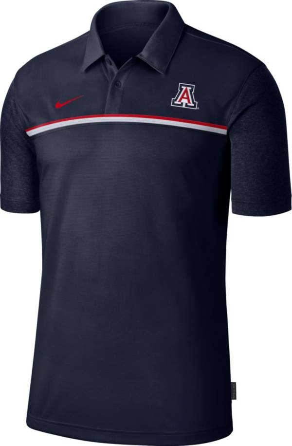 Nike Men's Arizona Wildcats Navy Dri-FIT Football Sideline Polo product image