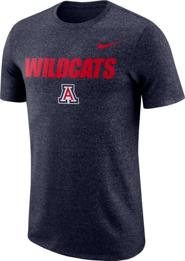 Nike Men's Arizona Wildcats Navy Marled Logo T-Shirt product image