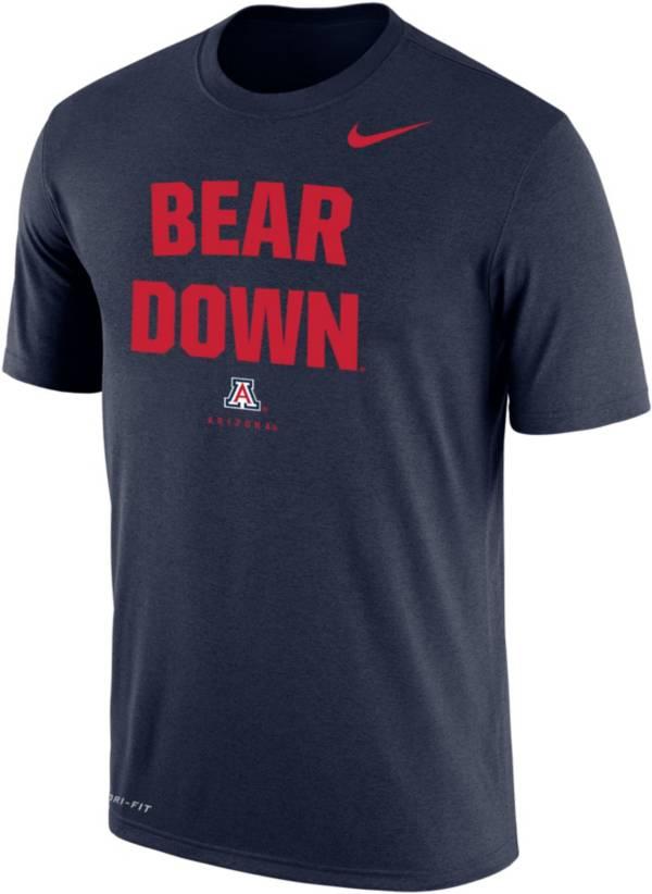Nike Men's Arizona Wildcats Navy Dri-FIT Phrase T-Shirt product image