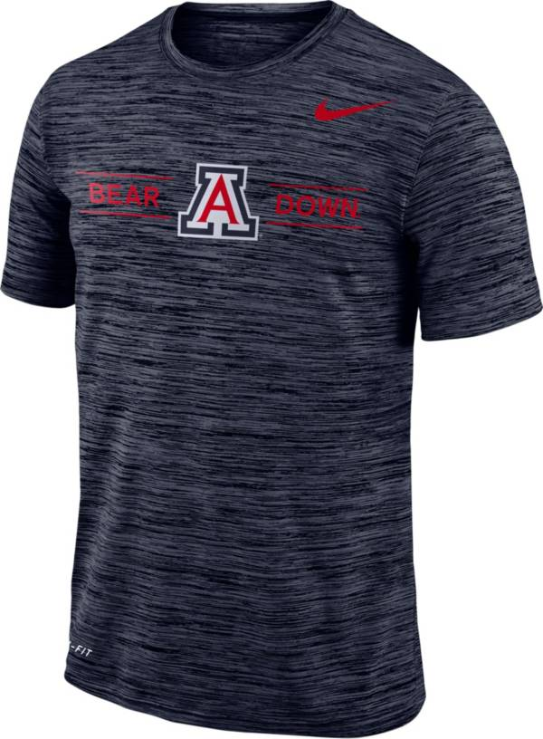 Nike Men's Arizona Wildcats Navy Velocity 'Bear Down' Football T-Shirt product image