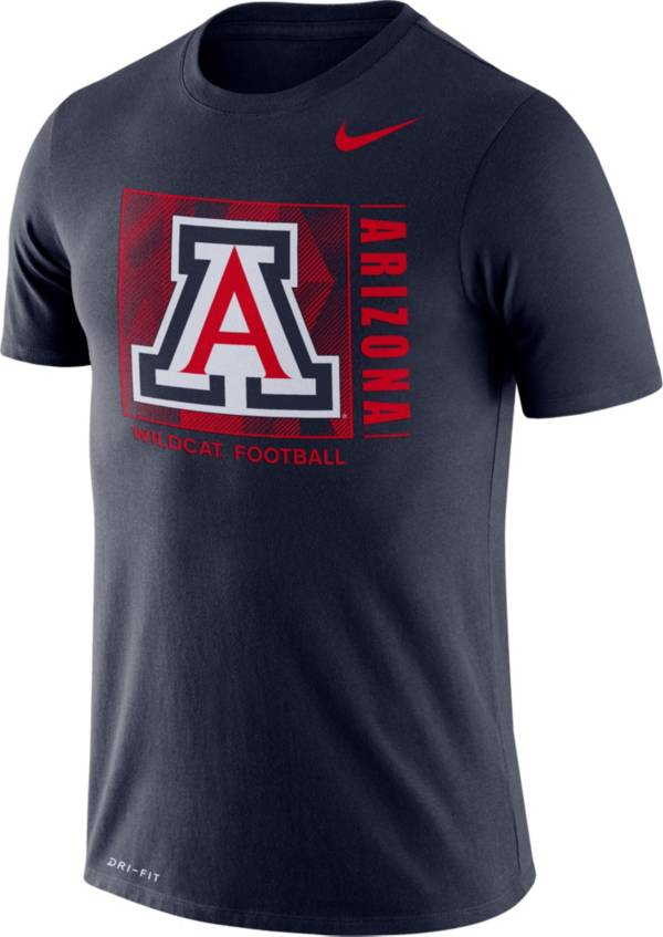 Nike Men's Arizona Wildcats Navy Team Issue Logo Football T-Shirt product image