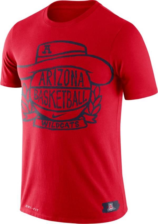 Nike Men's Arizona Wildcats Cardinal Dry Crest Basketball T-Shirt product image