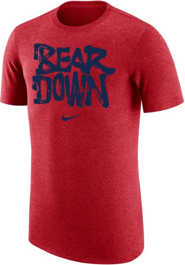 Nike Men's Arizona Wildcats Cardinal 'Bear Down' Tri-Blend Verbiage T-Shirt product image
