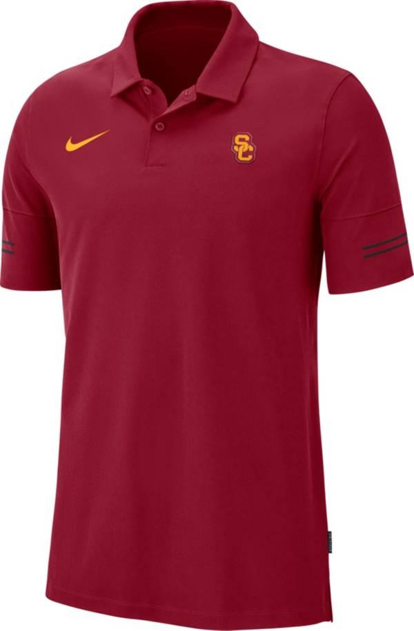 Nike Men's USC Trojans Cardinal  Elevated Flex On-Field Performance Polo product image