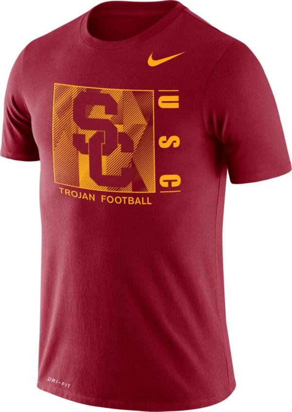 Nike Men's USC Trojans Cardinal Team Issue Logo Football T-Shirt product image