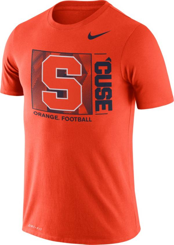 Nike Men's Syracuse Orange Orange Team Issue Logo Football T-Shirt product image