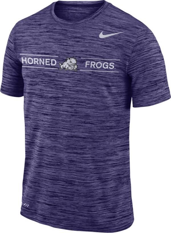 Nike Men's TCU Horned Frogs Purple Velocity Football T-Shirt product image