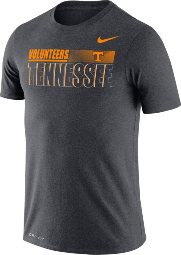 Nike Men's Tennessee Volunteers Grey Legend Team Issue Football T-Shirt product image