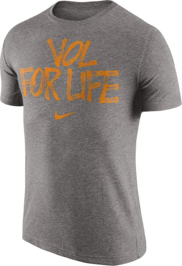 Nike Men's Tennessee Volunteers Grey 'Vol For Life' Tri-Blend Verbiage T-Shirt product image