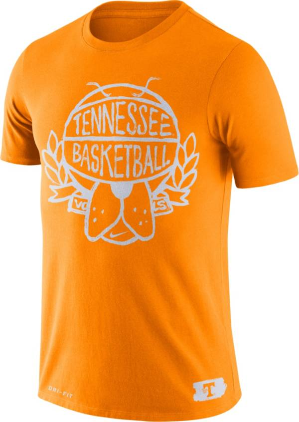 Nike Men's Tennessee Volunteers Tennessee Orange Dry Crest Basketball T-Shirt product image