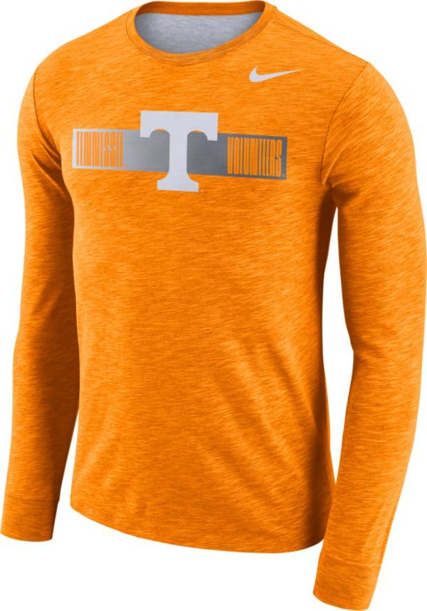 Nike Men's Tennessee Volunteers Tennessee Orange Dri-FIT Cotton Slub Logo Long Sleeve T-Shirt product image